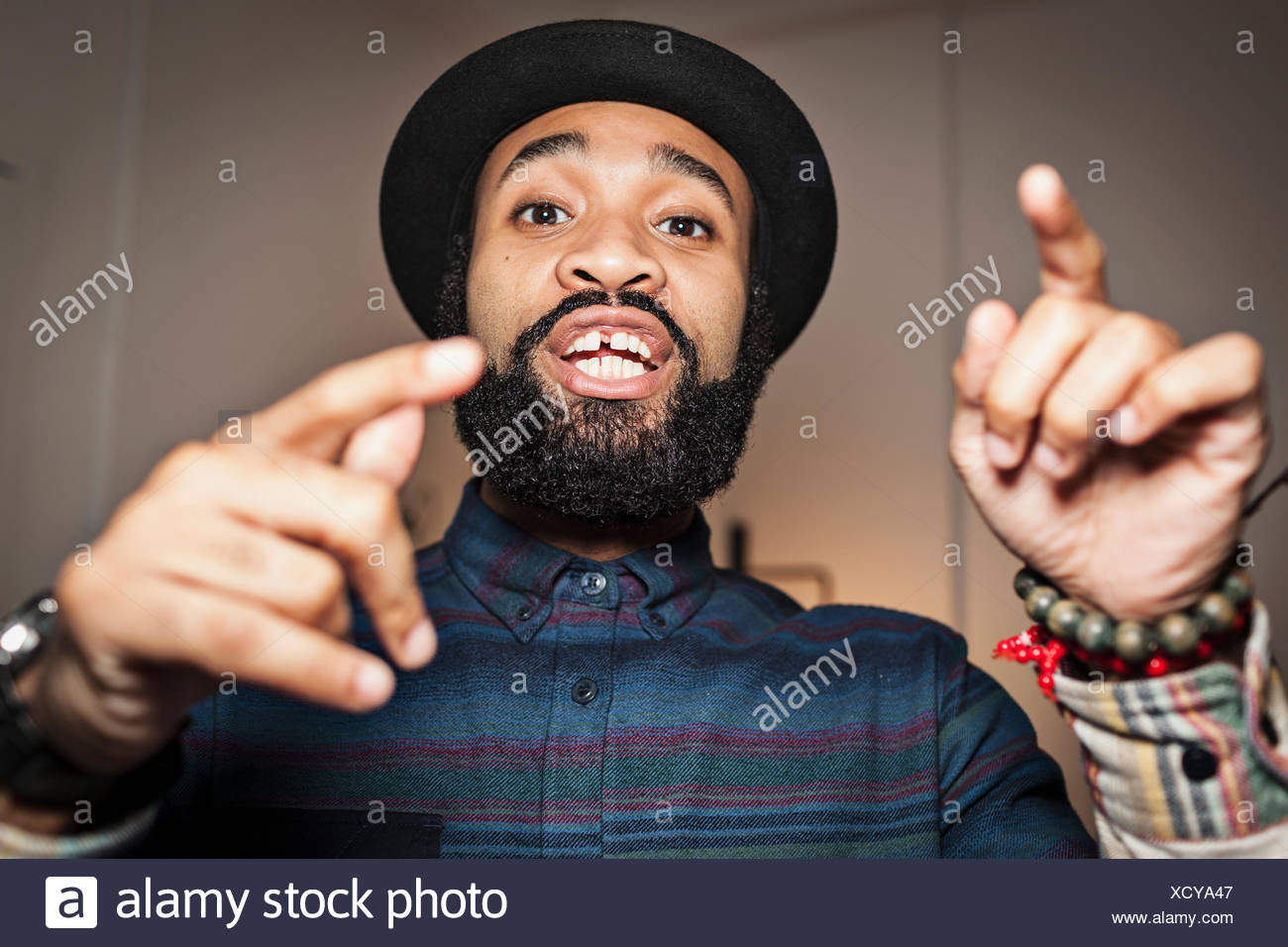 Portrait of a handsome young man - Stock Image