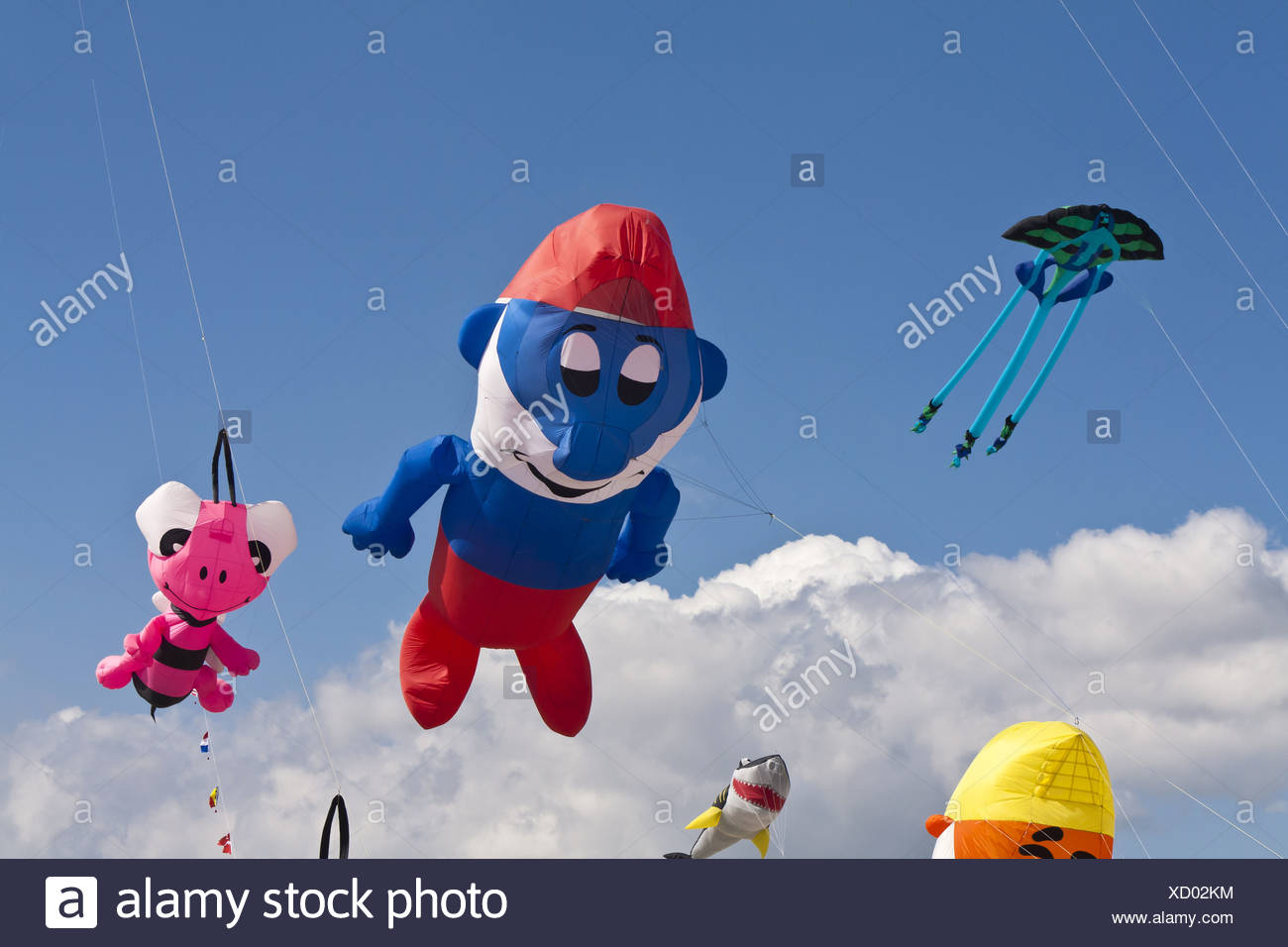 Kite Festival on the Beach of St. Peter-Ording Stock Photo
