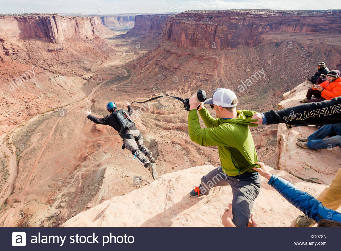 Base Jumping at Fruit Bowl - Stock Image