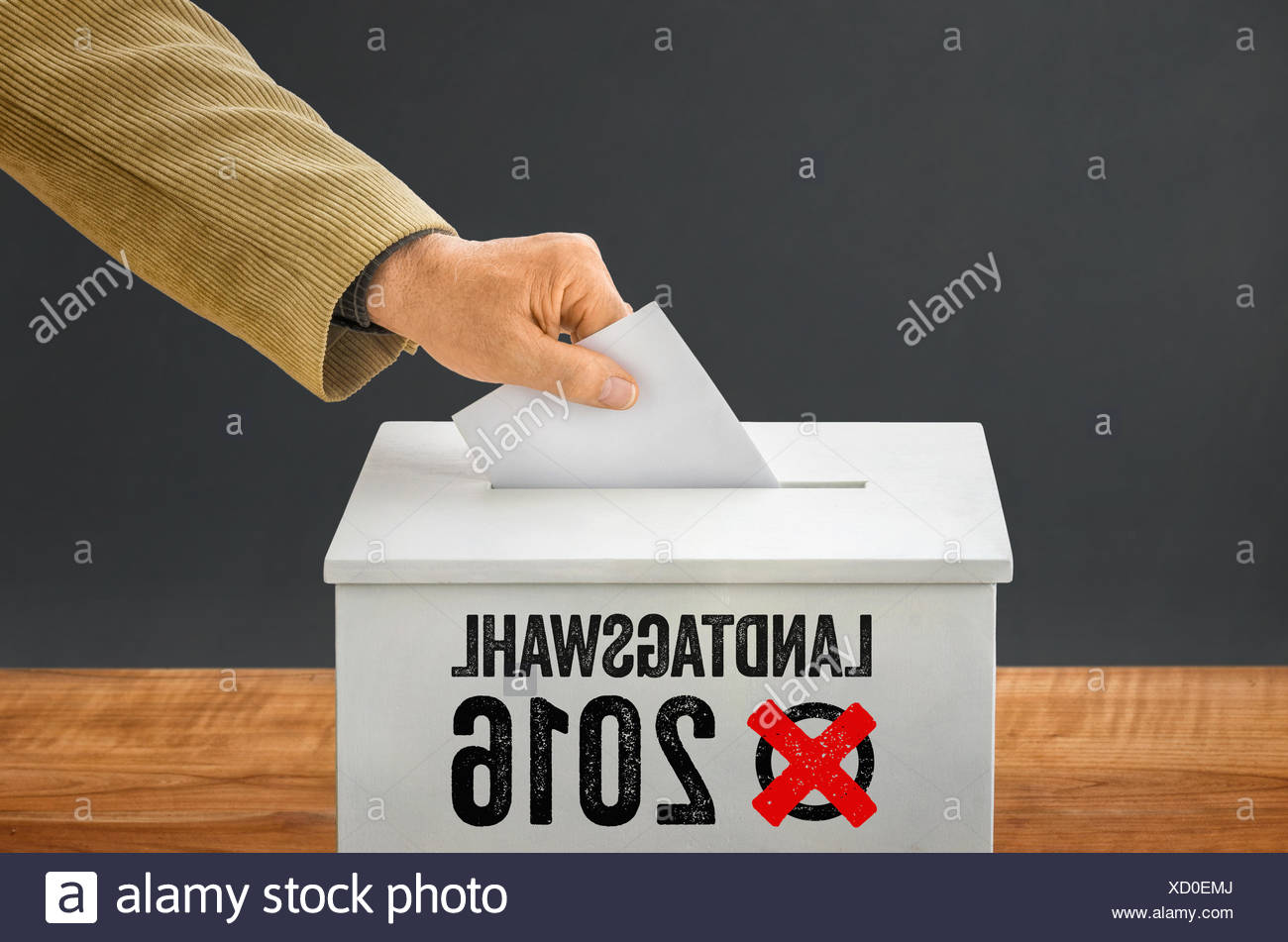 state election in 2016 - Stock Image