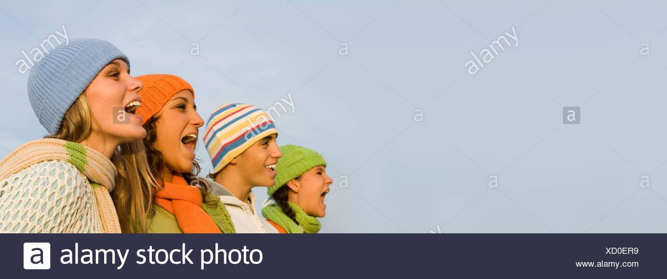 sing singers carol - Stock Image