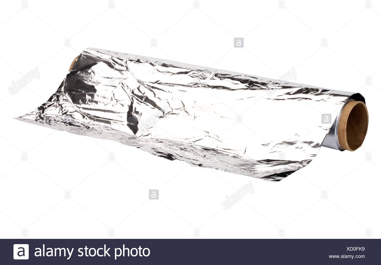 Close-up of an aluminum foil - Stock Image
