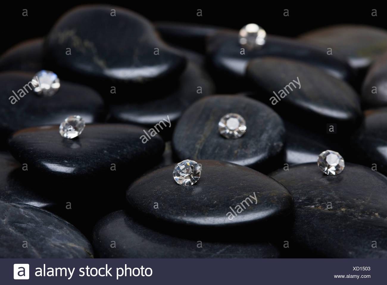 USA, Illinois, Metamora, Diamonds on gem stones - Stock Image