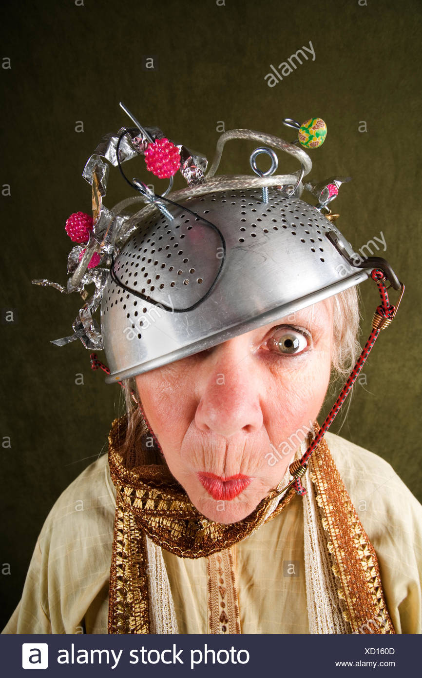 woman lady funny - Stock Image