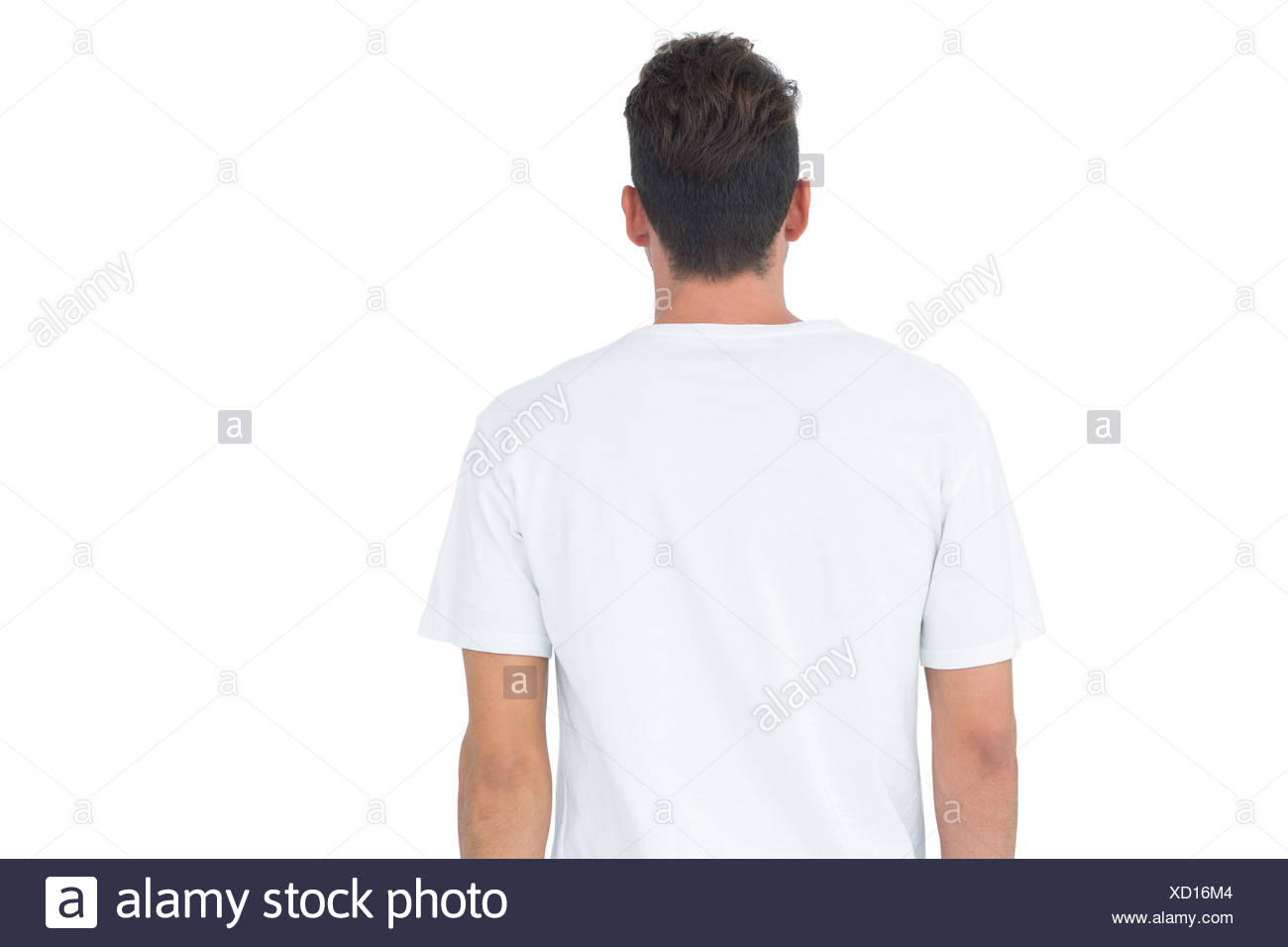 Rear view of a young man - Stock Image