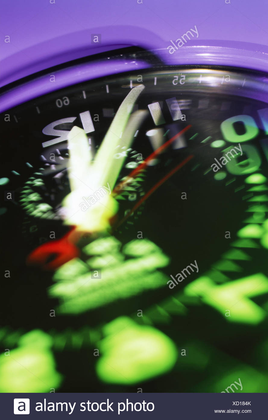 Stopwatch, detail, blurs - Stock Image