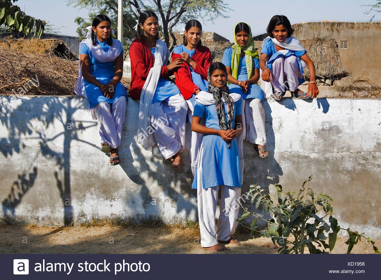 Indian School Girls Stock Photos & Indian School Girls Stock Images