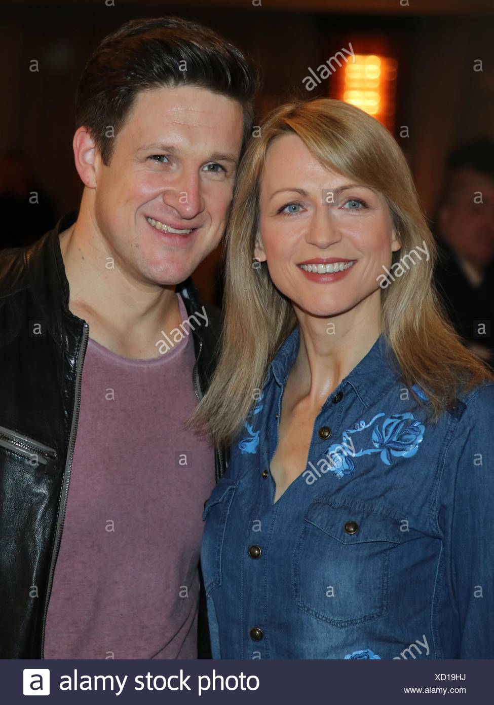 Singer Matthias Steiner with Inge Steiner - Stock Image