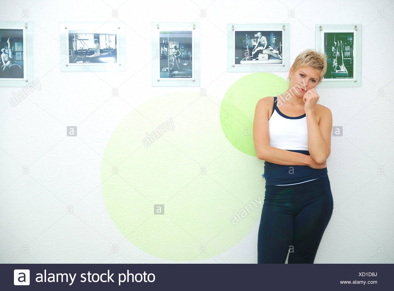 women in a fitness center - Stock Image