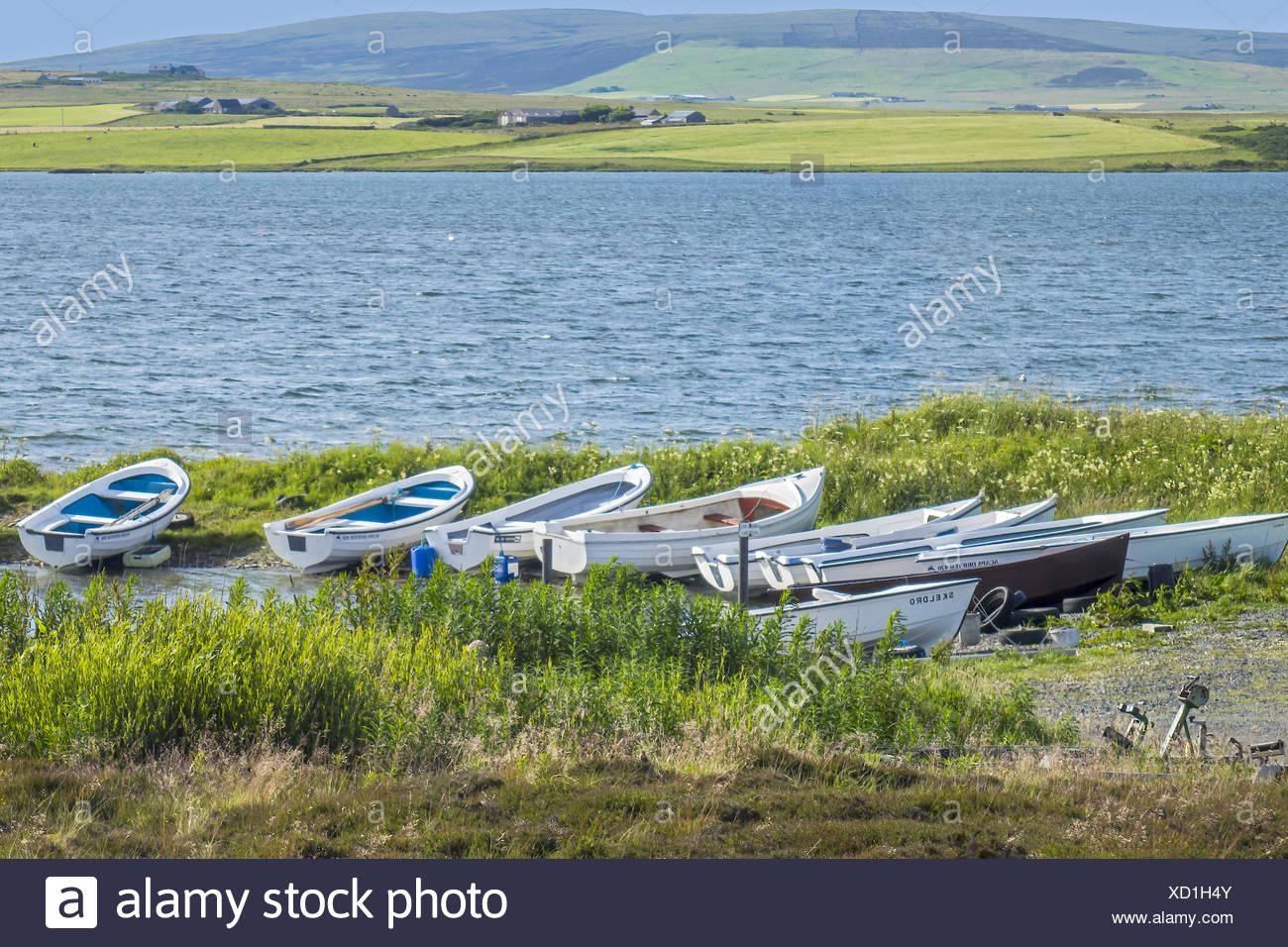 Loch of Harray Mainland Orkney Islands UK Stock Photo