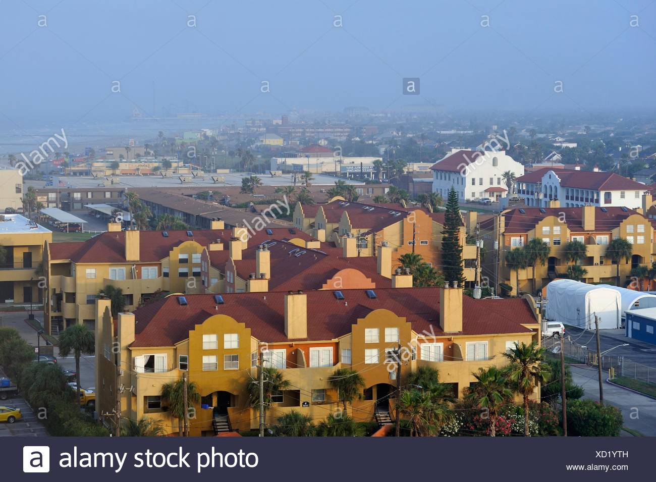Galveston island, Gulf of Mexico, Texas, United States of America, North America. - Stock Image
