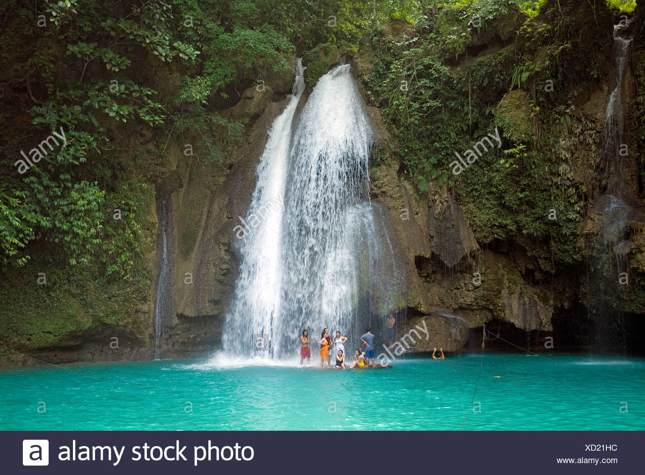 Kawasan Falls, Cebu, Philippines, Indo-Pacific region, Asia - Stock Image
