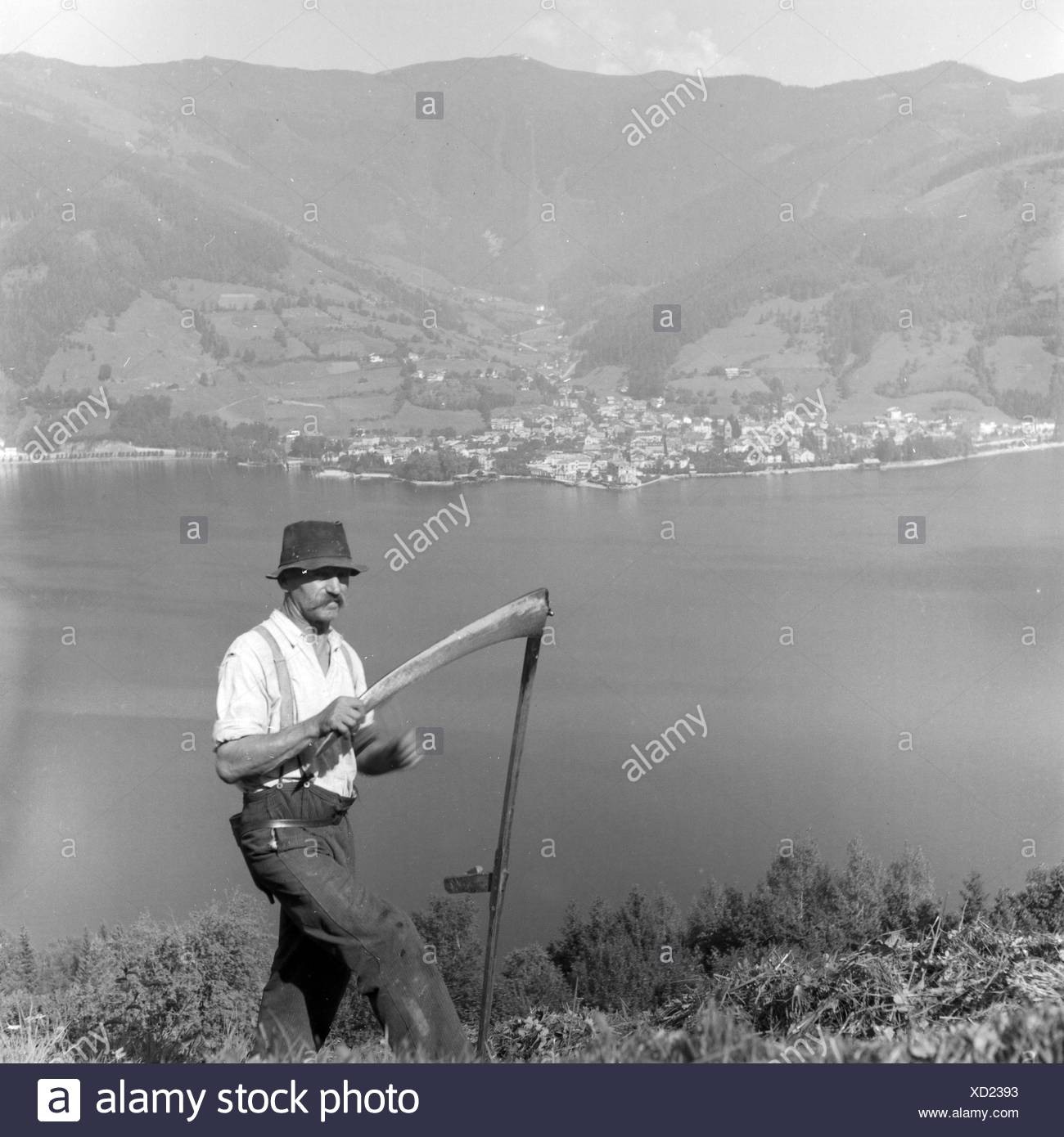 Blick auf Zell am See, Deutschland 1930er Jahre. View to Zell am See, Germany 1930s. - Stock Image