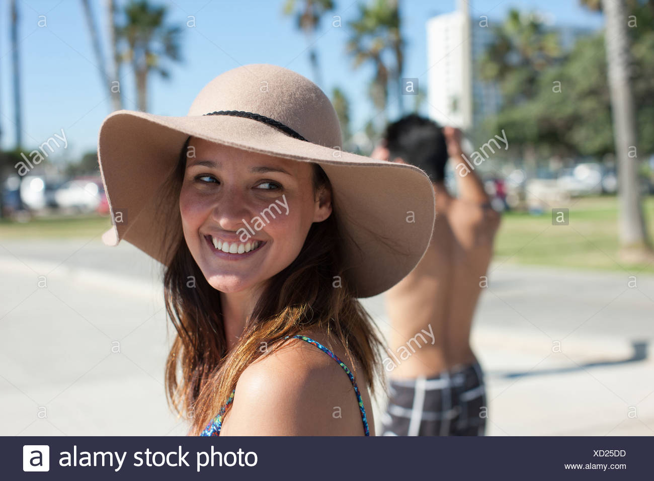 Woman wearing hat - Stock Image