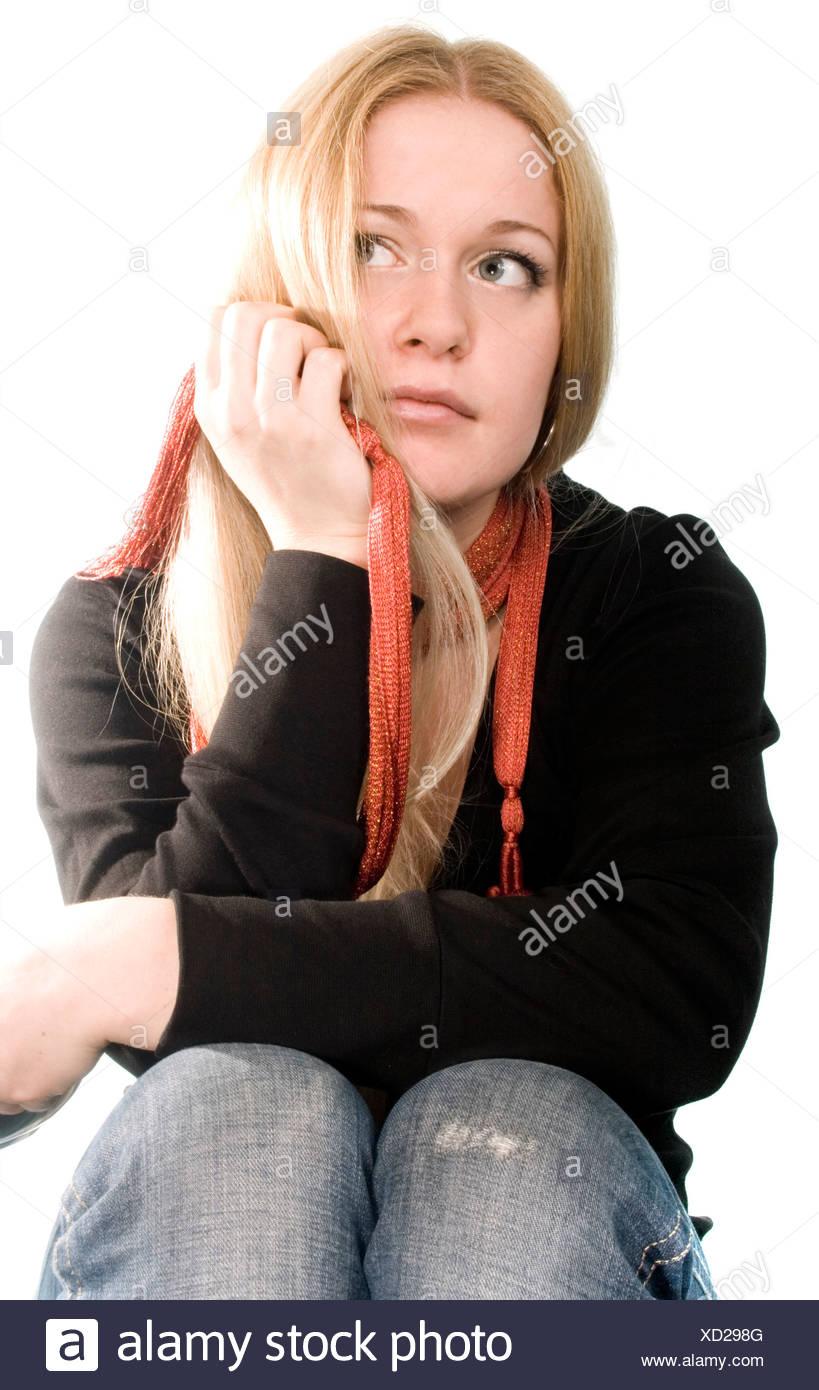 pretty blonde - Stock Image