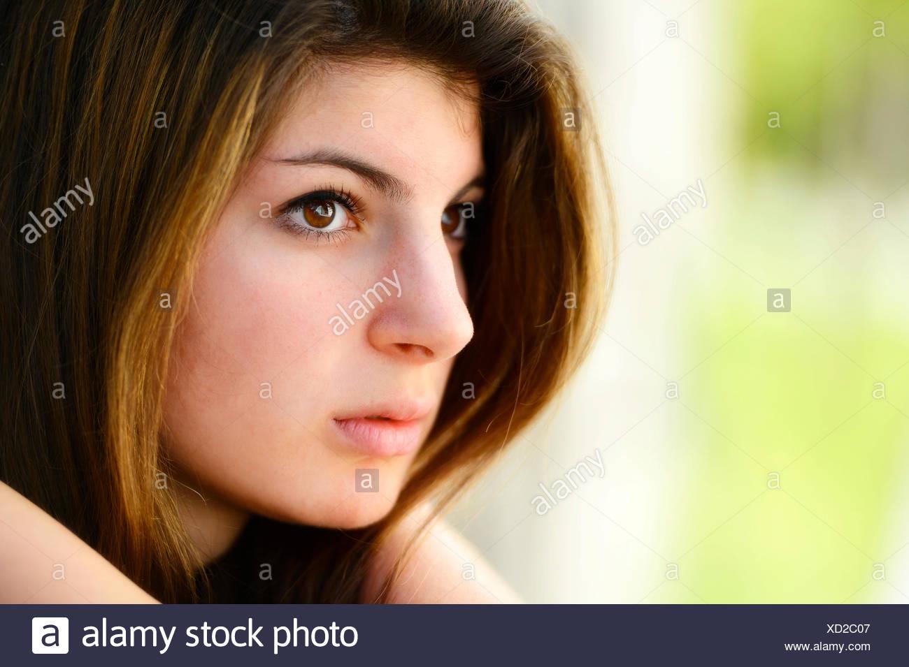Girl, 15 years, portrait - Stock Image