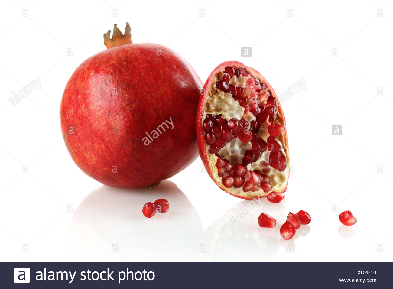 Juicy pomegranate - Stock Image
