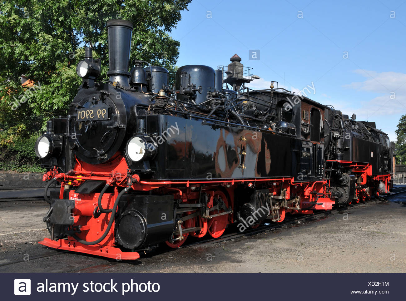 Steam engines - Stock Image
