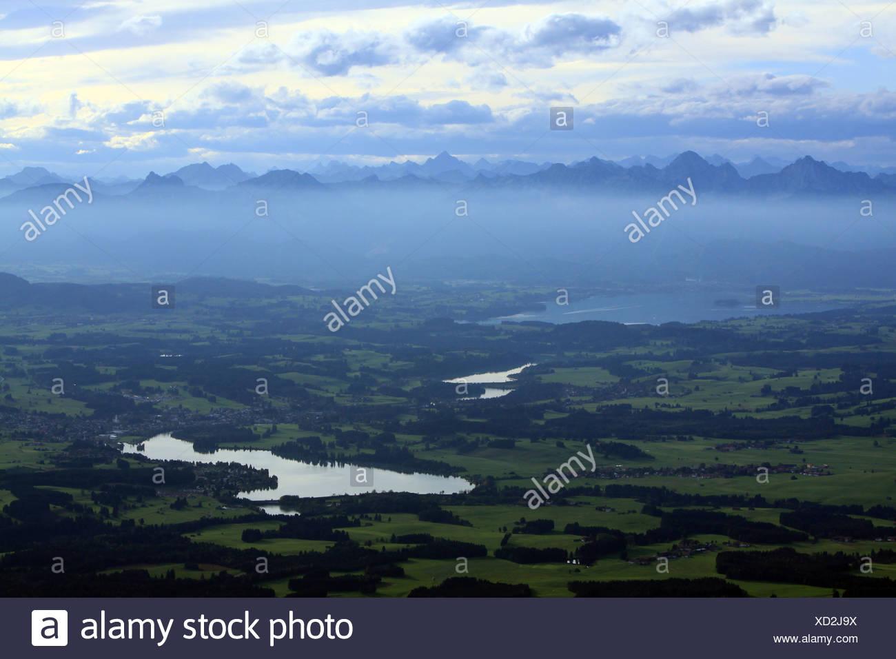 Lech reservoir near Lechbruck - Stock Image