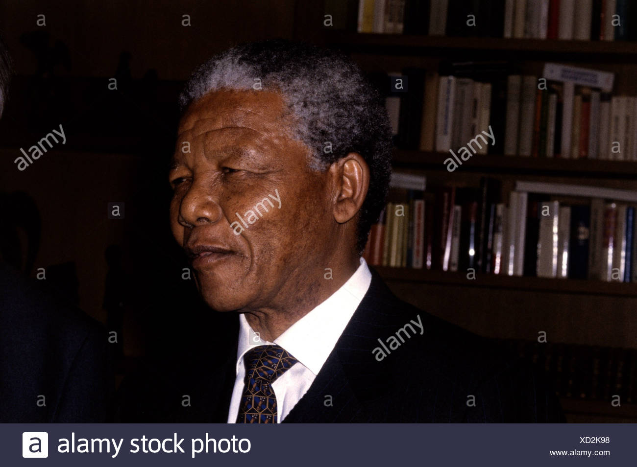 Mandela, Nelson, 18.7.1918 - 5.12.2013, South African politician (ANC), portrait, early 1990s, Additional-Rights-Clearances-NA - Stock Image
