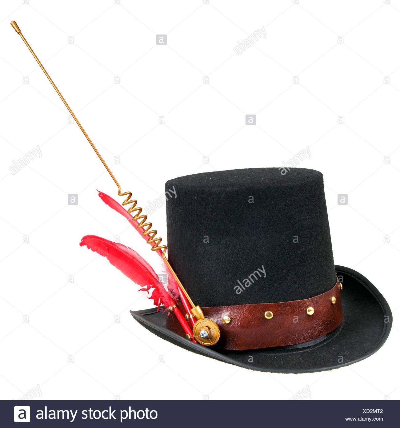 8b984219332 Steampunk accessories Man's hat On white Background Stock Photo ...