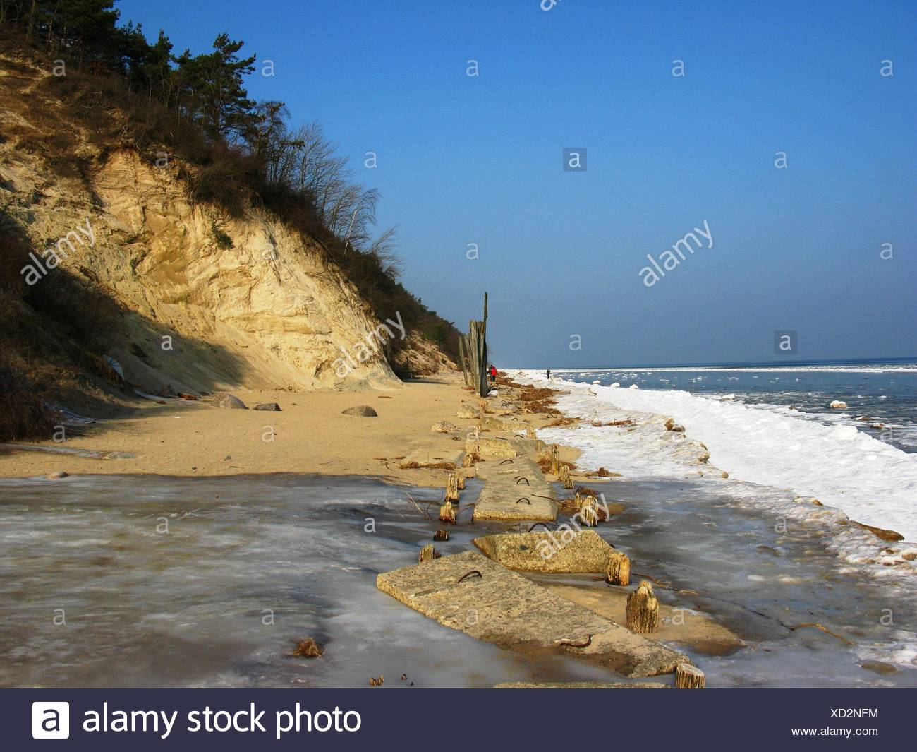 cliffs in winter - Stock Image