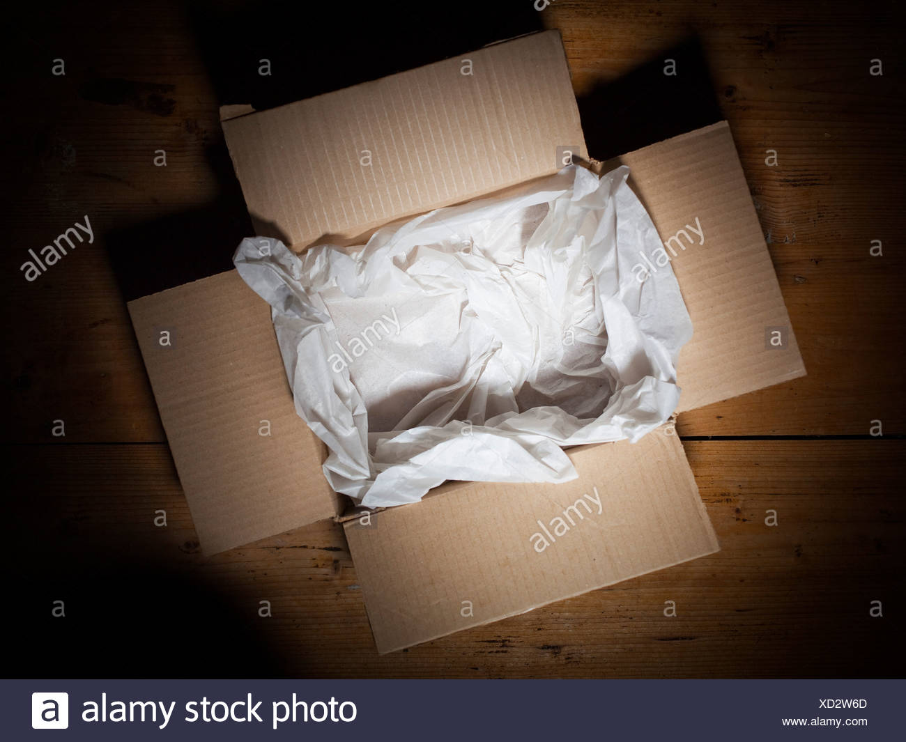 Opened box - Stock Image