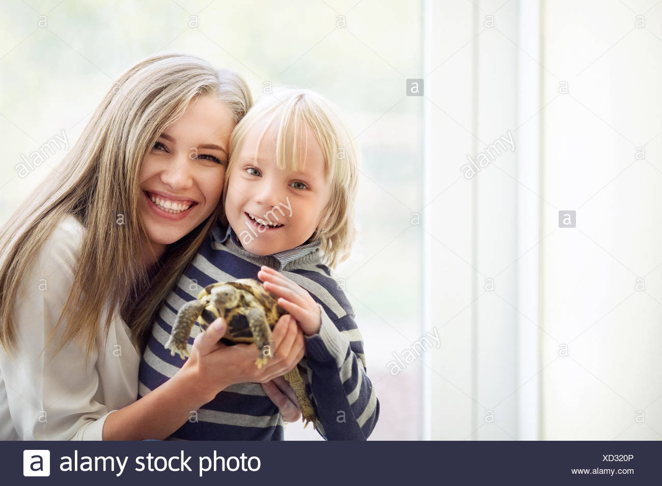 Family with pets - Stock Image
