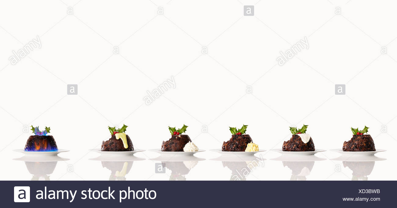 Christmas cakes with colorful frosting - Stock Image