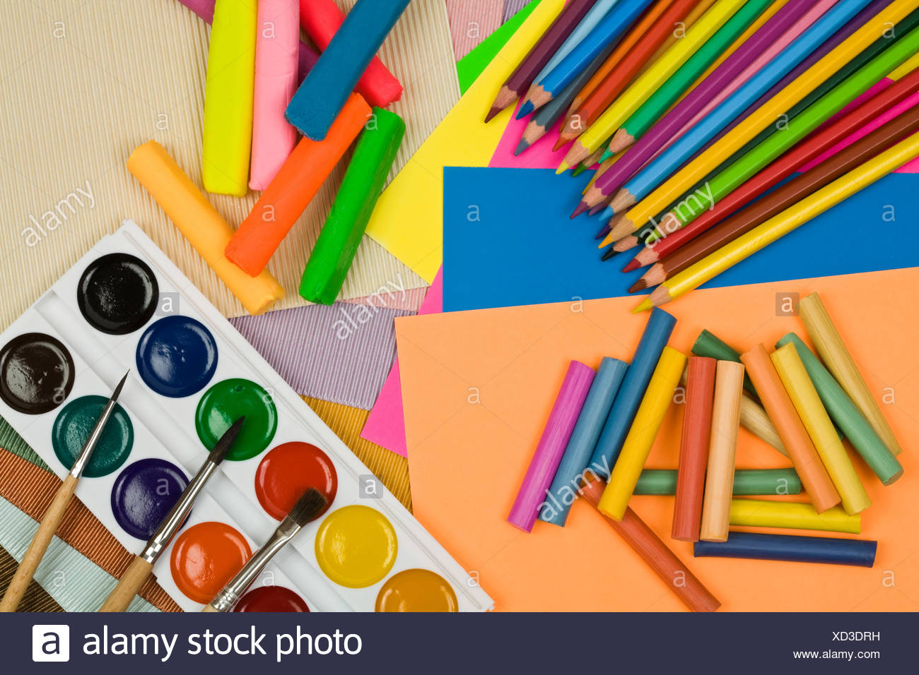 All for creativity of children - Stock Image