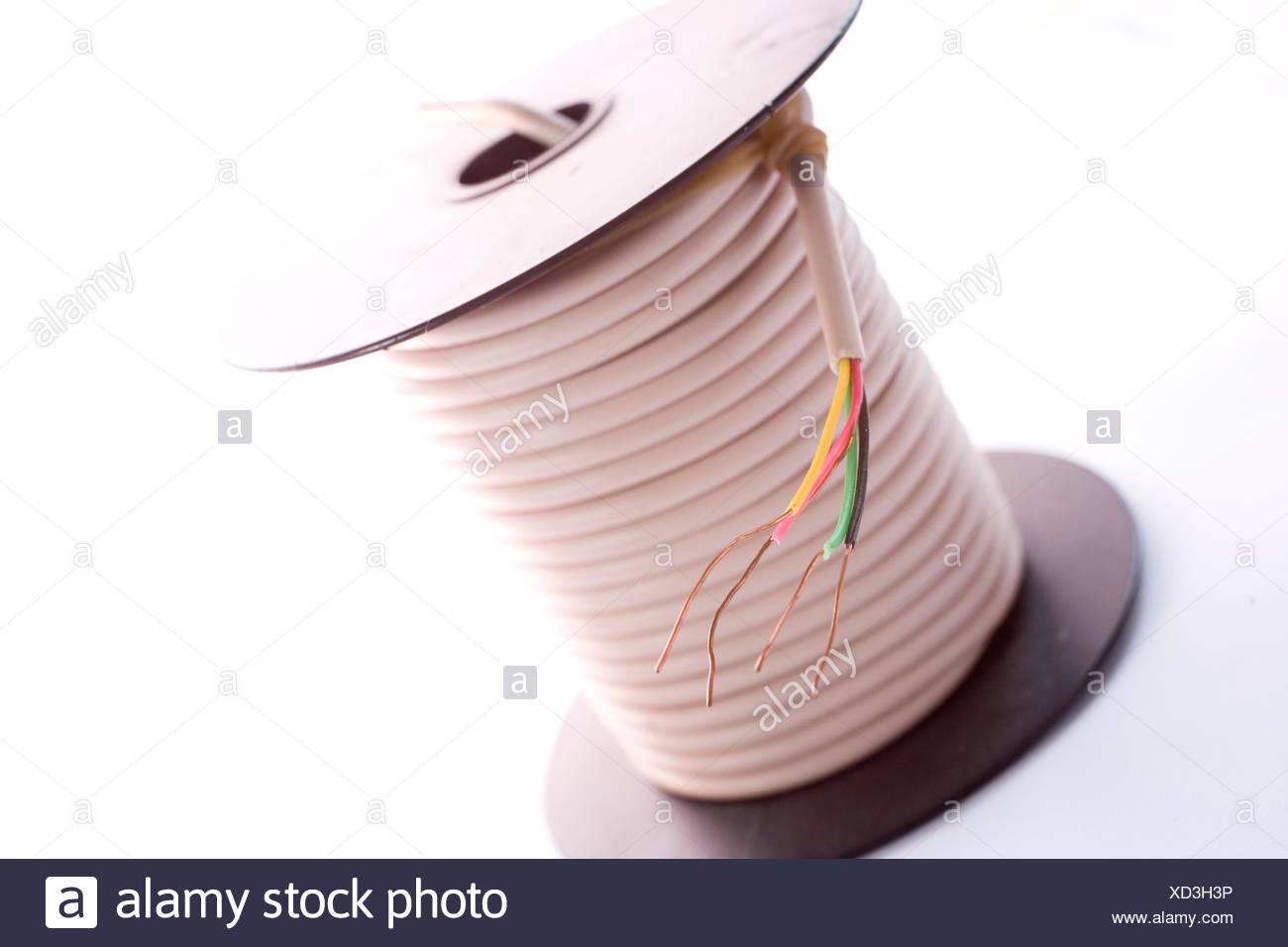 cable on the reel - Stock Image