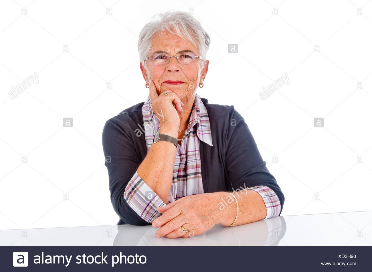 satisfied  pensioner Stock Photo