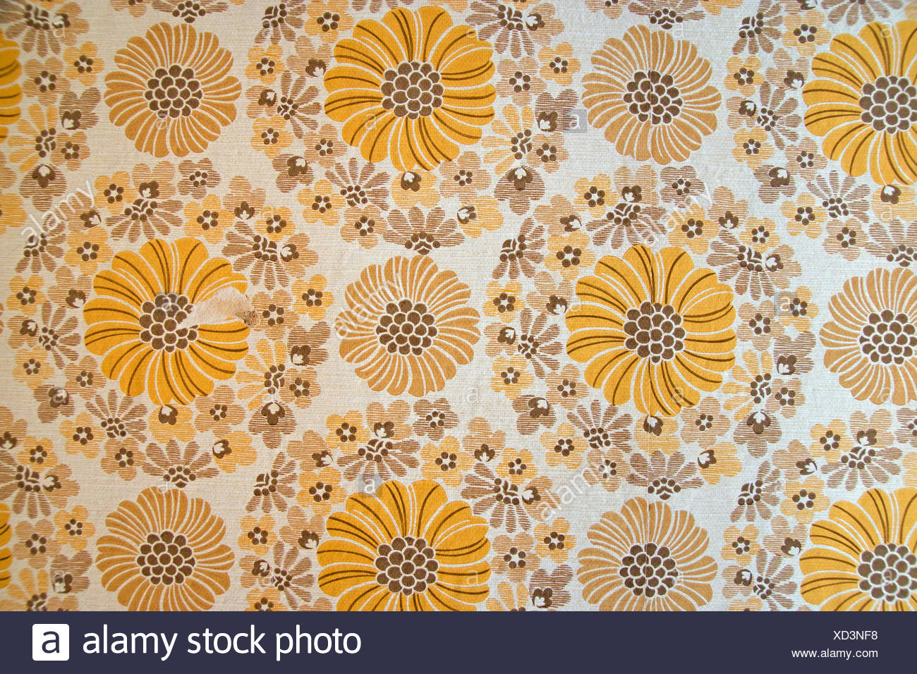 Wallpaper from the seventies - Stock Image
