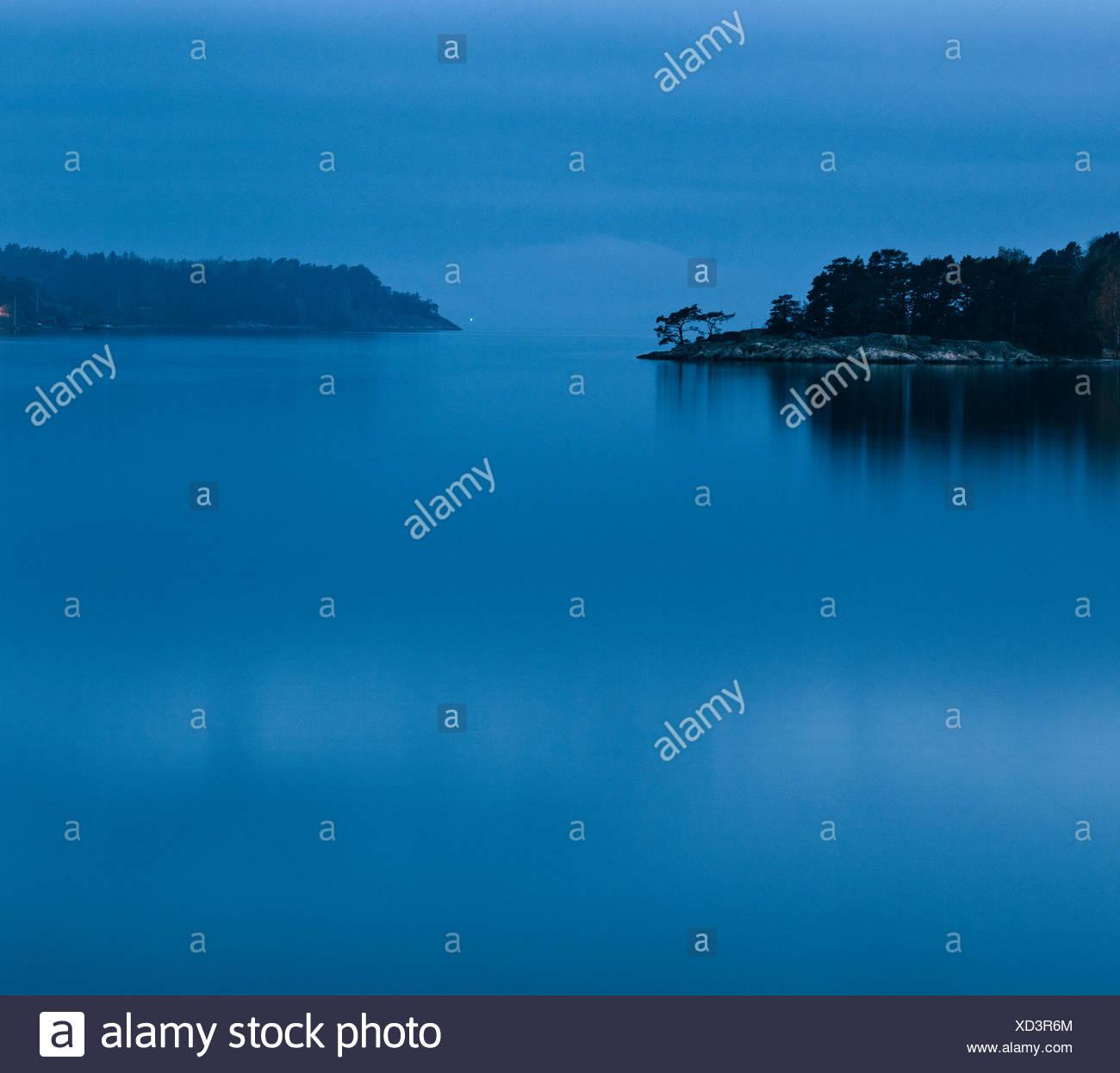 View of Baltic Sea, Sweden, Stockholm Archipelago, Sodermanland, Djuro - Stock Image