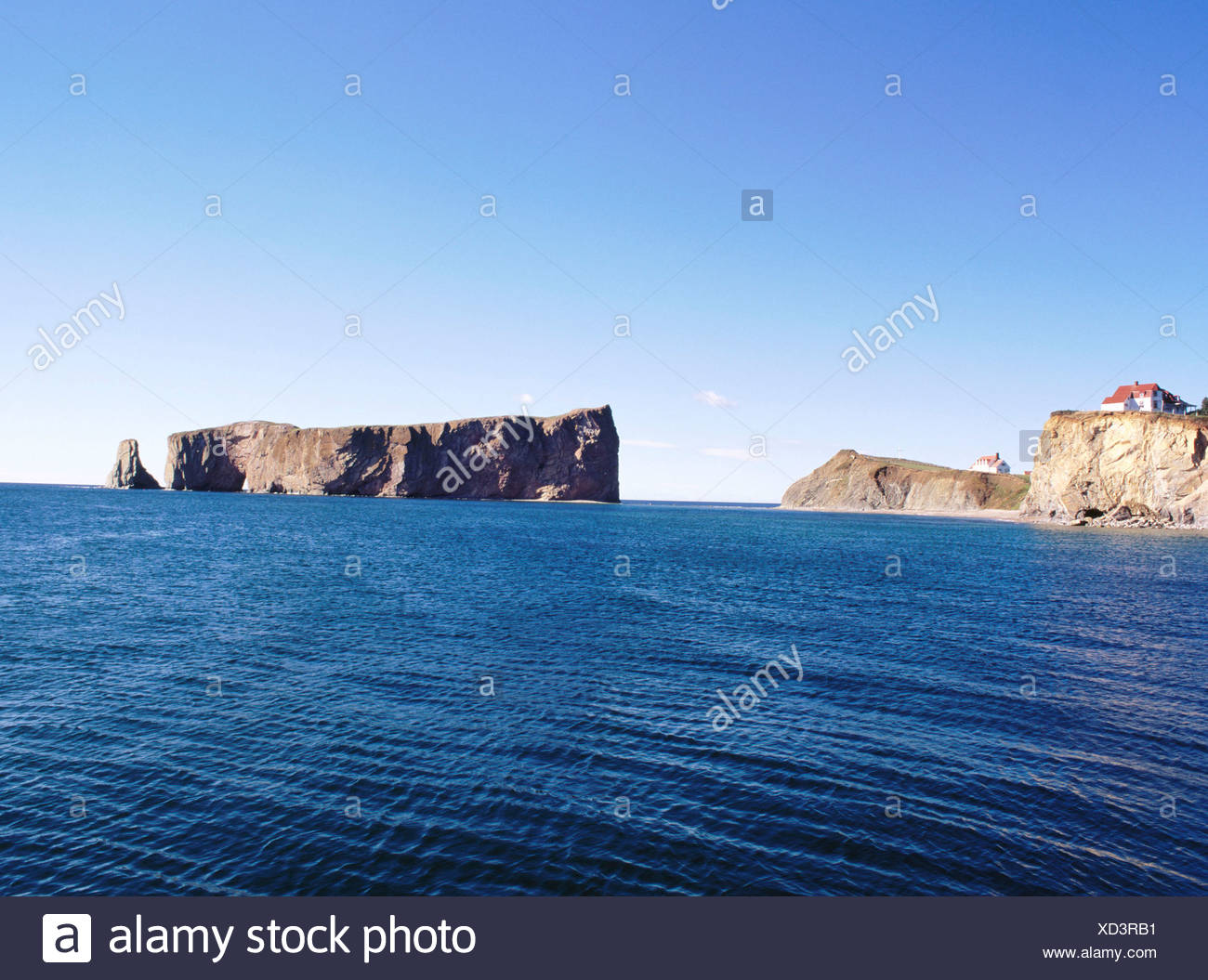 . Canada North America cliff Gasp sie peninsula houses homes cliffs