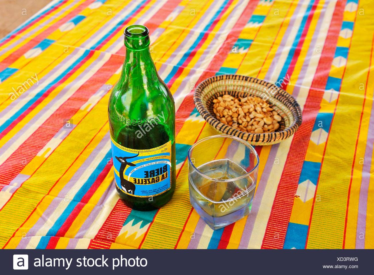 La Gazelle local beer, Dakar, Senegal, West Africa.