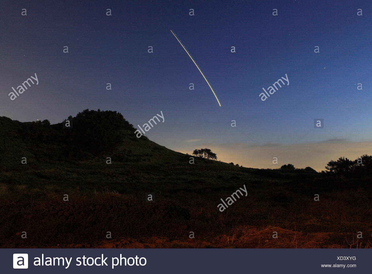 Shooting Star - Stock Image