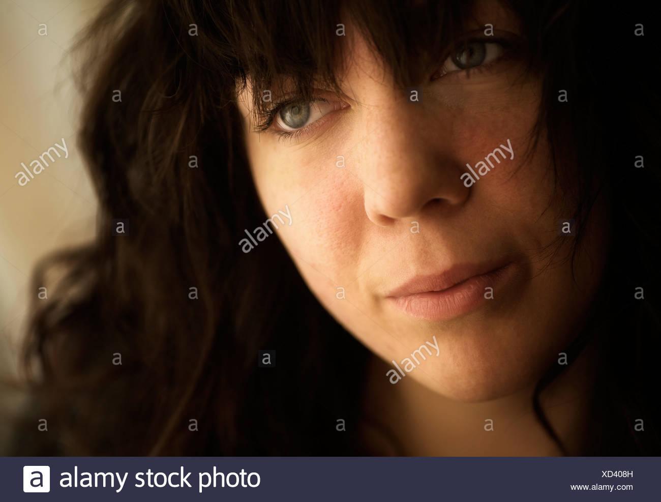 Woman looking sad - Stock Image