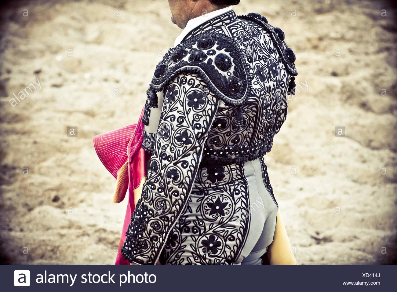 bullfighters costumes - Stock Image