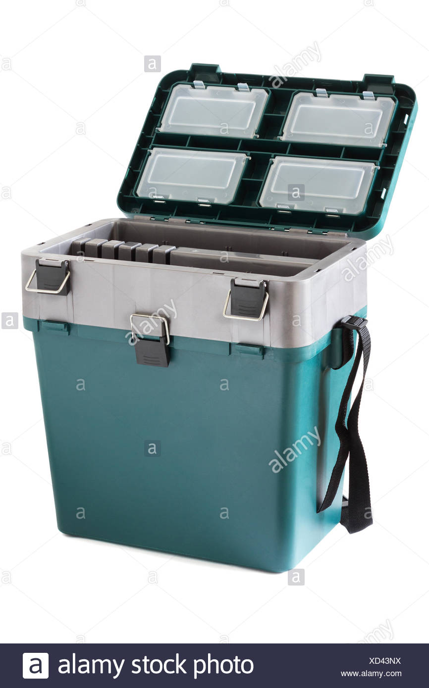 Box for winter fishing - Stock Image