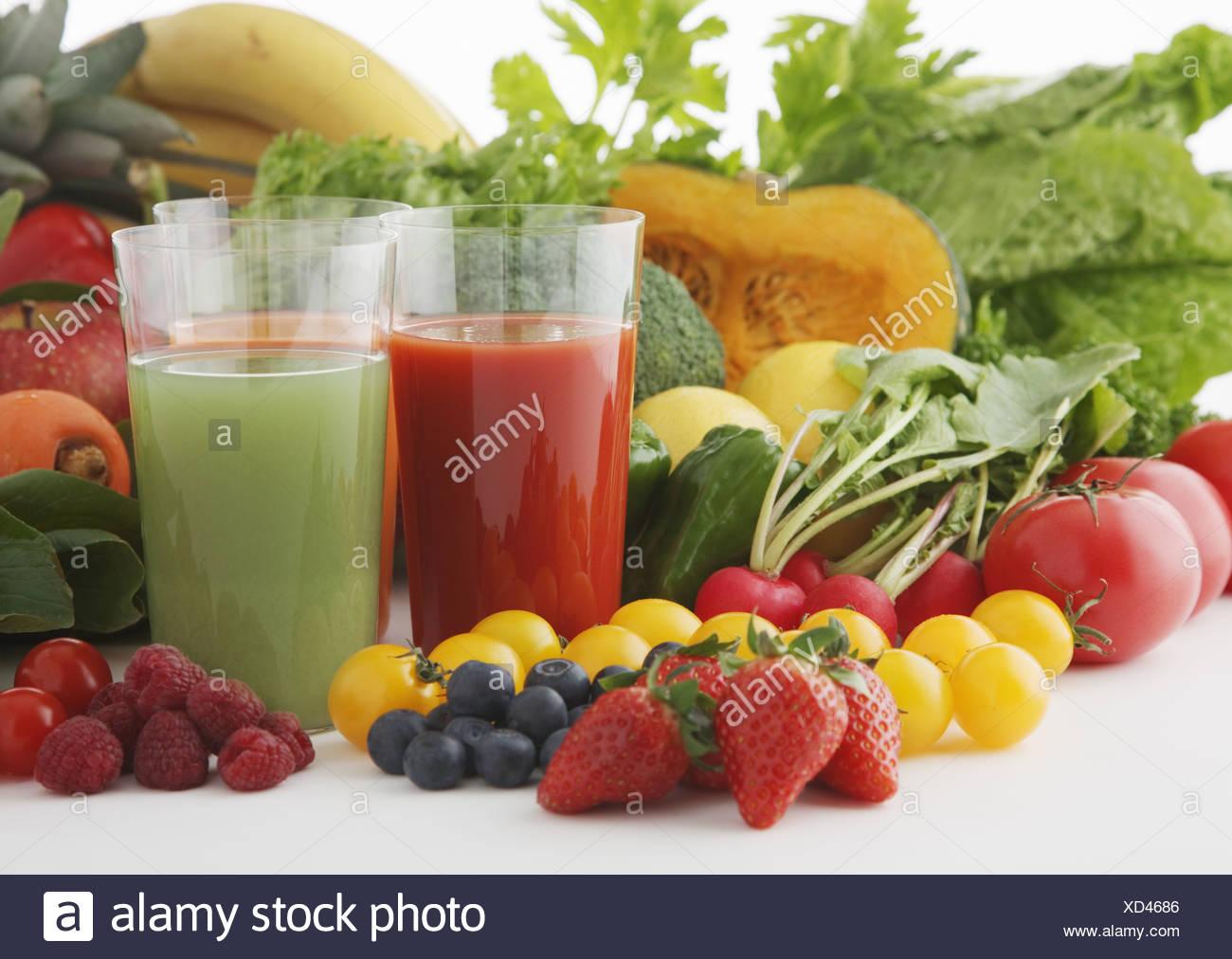 Vegetable juice - Stock Image