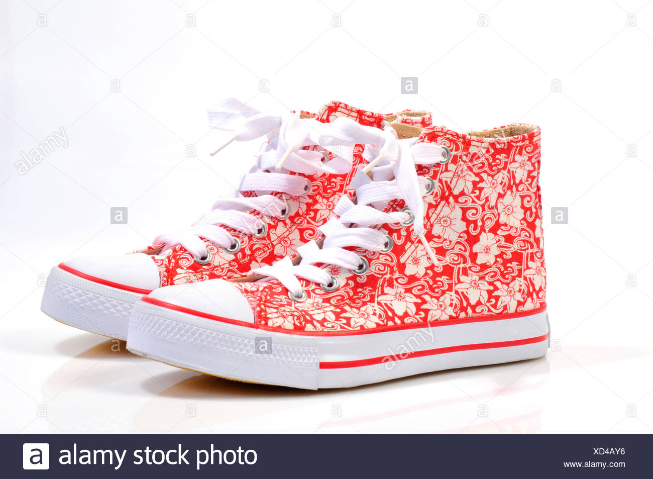 Multicoloured trainers, sneakers for girls - Stock Image