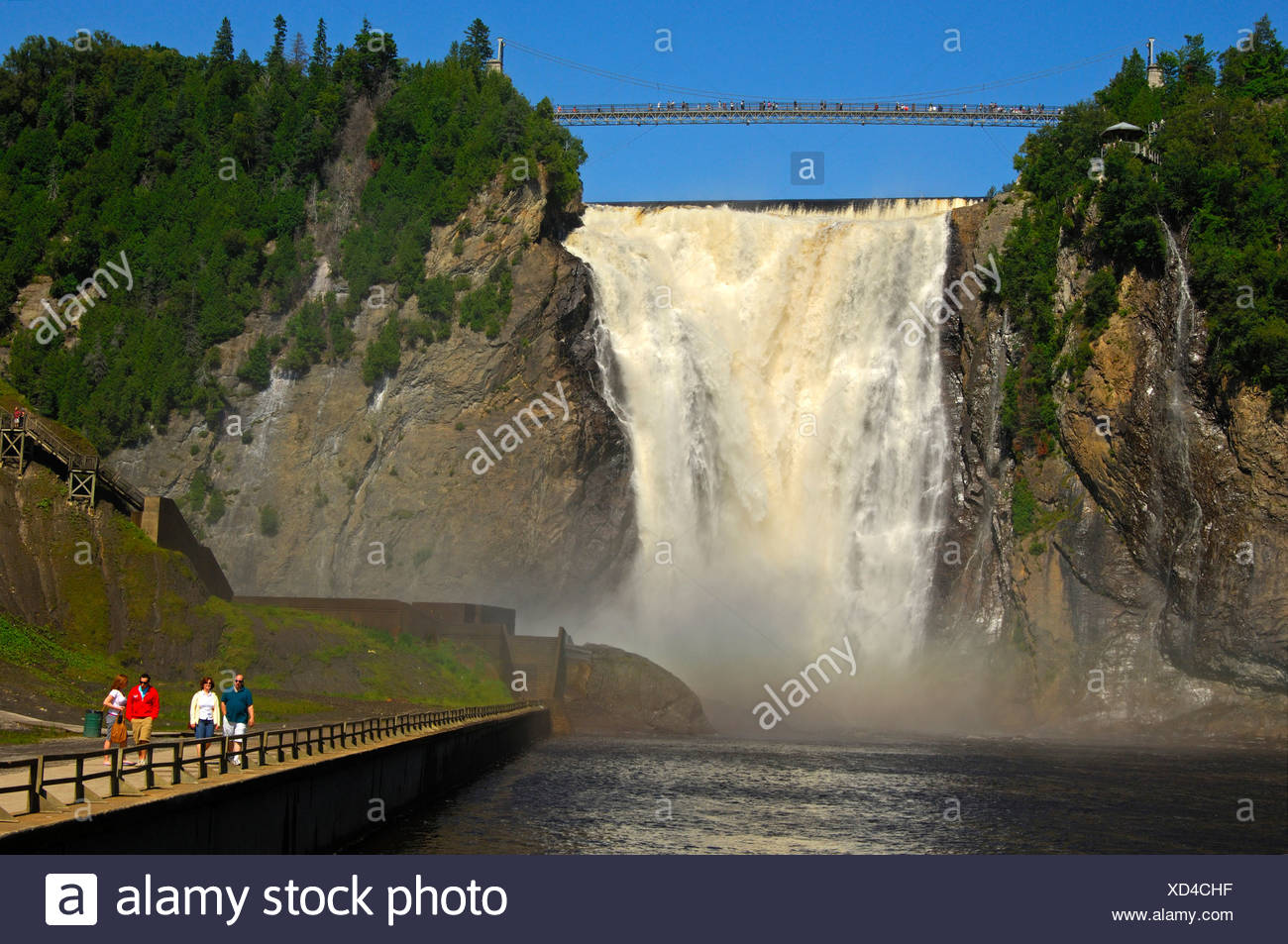 Natural spectacle Montmorency Falls, Beauport, Quebec, Canada - Stock Image