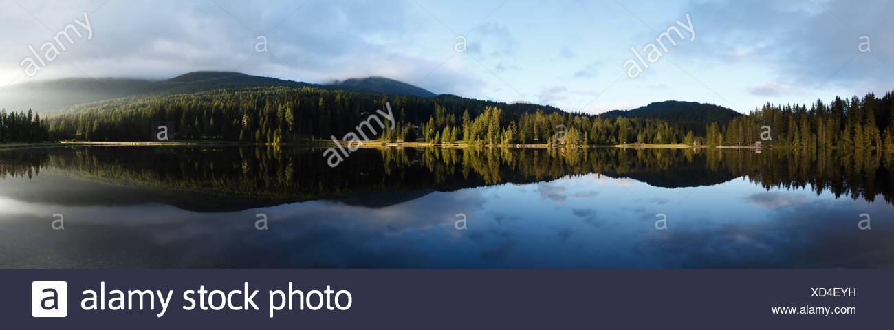 Lake Prebersee, morning, Lungau, Salzburg state, Salzburg, Austria, Europe Stock Photo