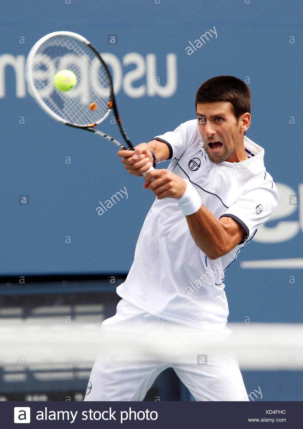 Novak Djokovic, SRB, ITF Grand Slam tennis tournament, U.S. Open 2011, USTA Billie Jean King National Tennis Center - Stock Image