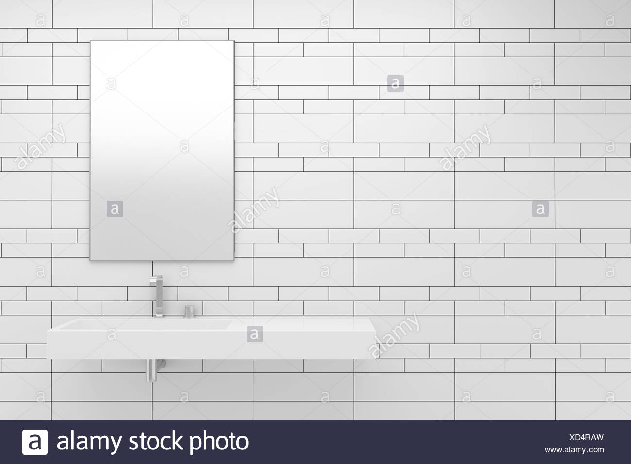 Tiles Bathroom Black and White Stock Photos & Images - Alamy