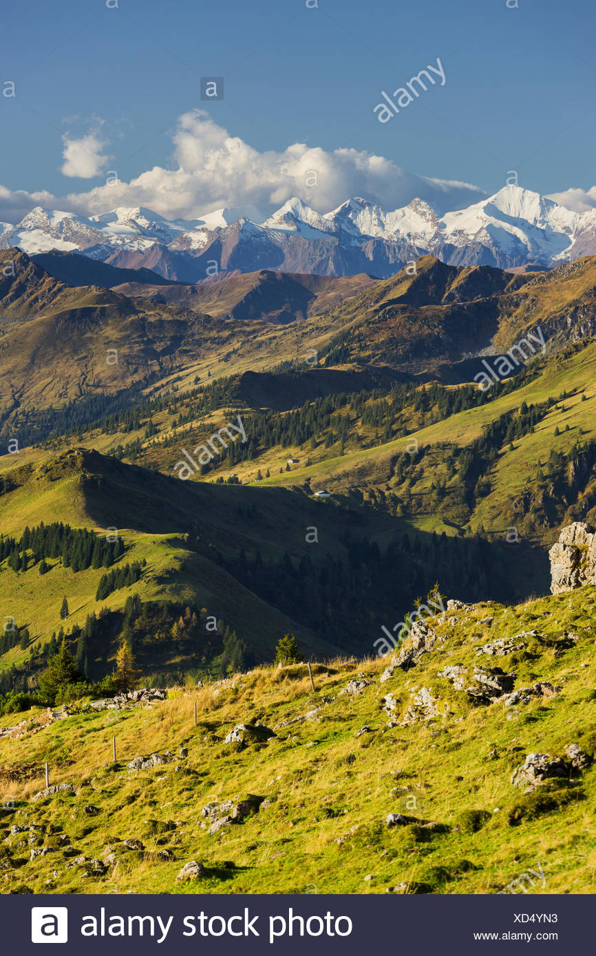 View from the Kitzbüheler Horn, Kitzbüheler Alps, Hohe Tauern, Tyrol, Austria - Stock Image