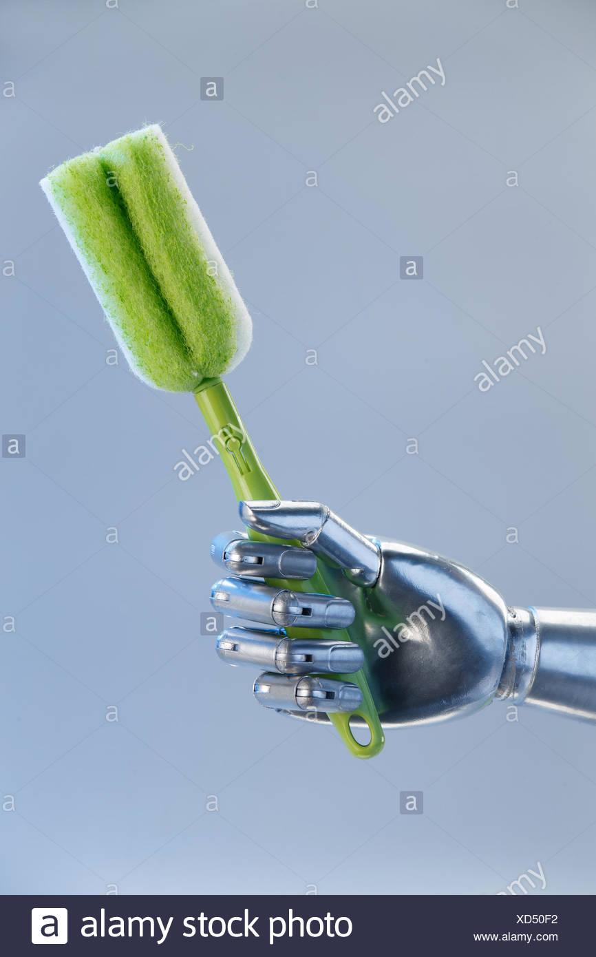 Human Touching Robot Stock Photos & Human Touching Robot Stock ...
