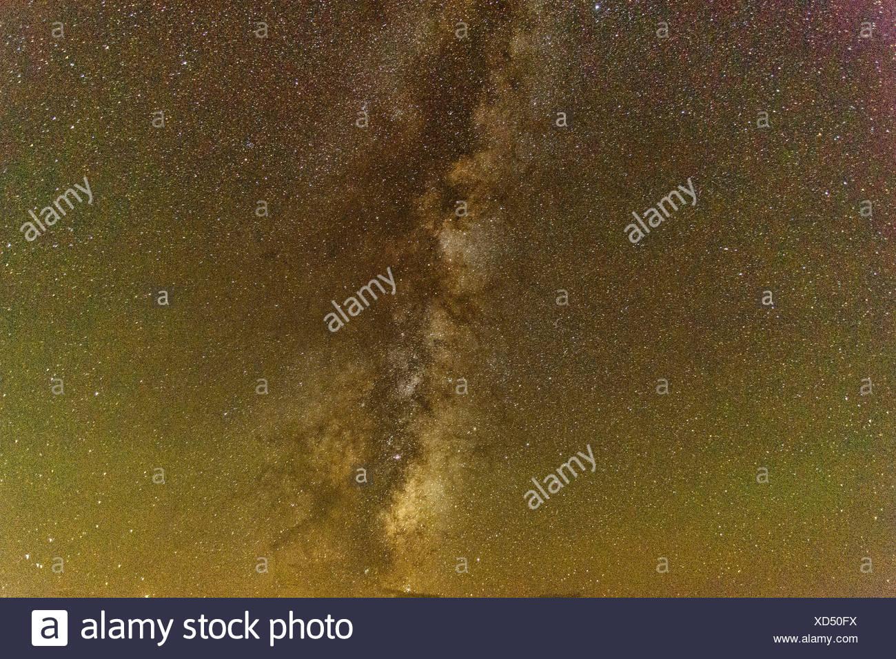Milky Way, sky, stars, night, Roosevelt, National Park, North Dakota, USA, United States, America, Stock Photo