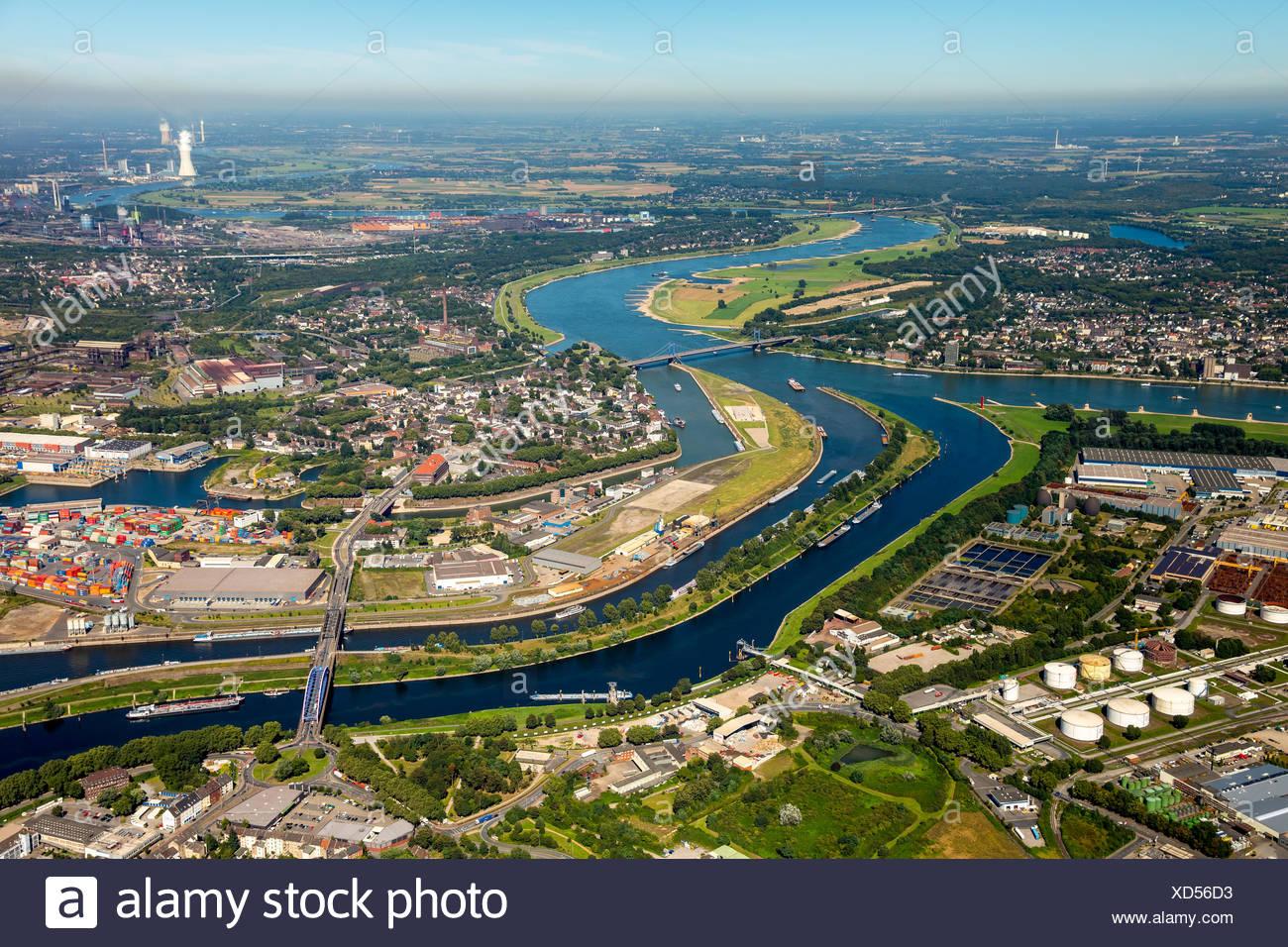 Duisport, inland port, Rhine, Duisburg, Ruhr district, North Rhine-Westphalia, Germany Stock Photo